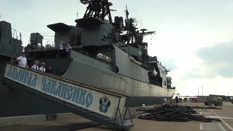 A-Russian-Navy-Vessel-Is-Docked-At-A-Military-Base-1