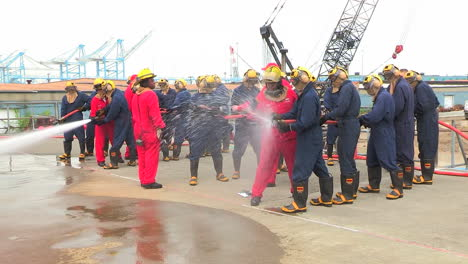 Navy-Sailors-Participate-In-Firefighter-Training-On-Board-Ship