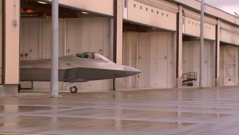 The-F22-Raptor-Rolls-Out-Of-The-Hangar-Onto-The-Runway