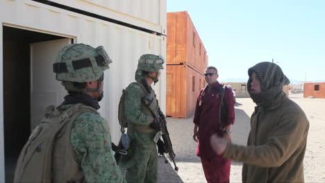 United-States-Troops-Practice-Various-Dangerous-Scenarios-In-A-Mock-Arab-Village-In-The-American-Desert-4