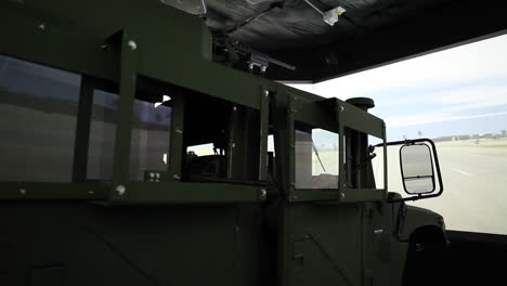Us-And-French-Troops-Practice-Driving-In-A-Convoy-In-A-War-Simulation-Theater