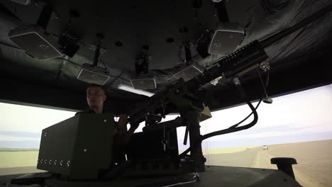 Us-And-French-Troops-Practice-Driving-In-A-Convoy-In-A-War-Simulation-Theater-5