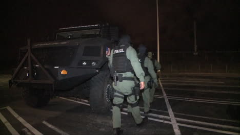 A-Swat-Team-Uses-Military-Style-Vehicles