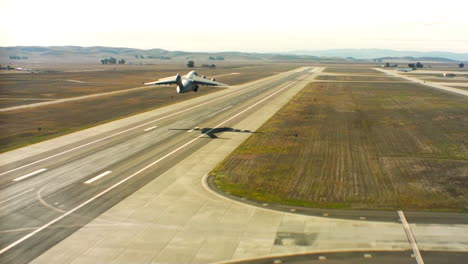 Aerials-Of-The-Us-Air-Force-Air-Mobility-Command-C17-Taking-Off-From-Runway