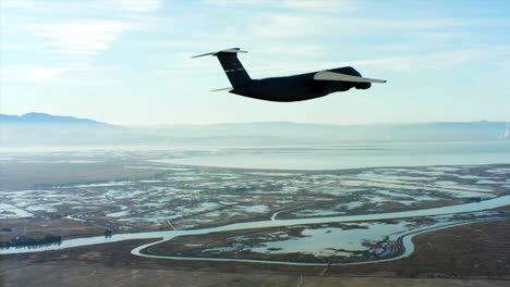 Aerials-Of-The-Us-Air-Force-Air-Mobility-Command-C5-In-Flight
