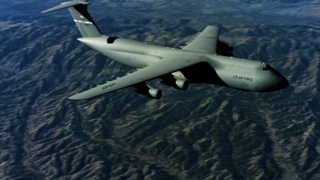 Aerials-Of-The-Us-Air-Force-Air-Mobility-Command-C5-In-Flight-4