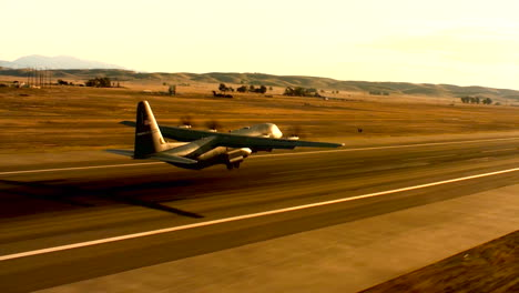 Aerials-Of-The-Us-Air-Force-Air-Mobility-Command-C130J-Taking-Off