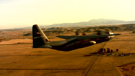 Aerials-Of-The-Us-Air-Force-Air-Mobility-Command-C130J-In-Flight