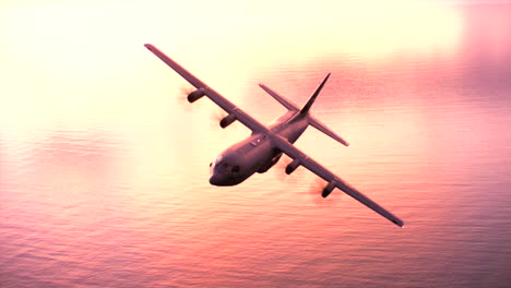 Aerials-Of-The-Us-Air-Force-Air-Mobility-Command-C130J-In-Flight-15
