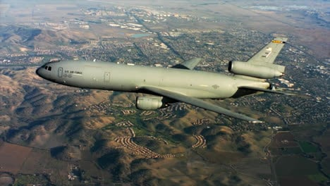 Aerials-Of-The-Us-Air-Force-Air-Mobility-Command-Kc10-In-Flight