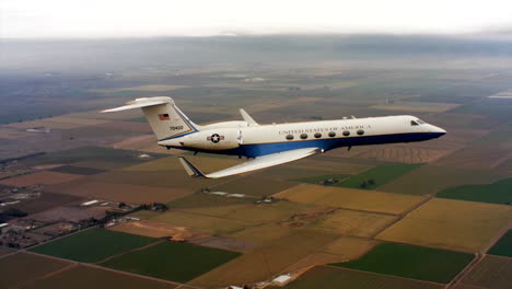 Aerials-Of-The-Us-Air-Force-Air-Mobility-Command-C37-Executive-Us-Government-Jet-In-Flight-6