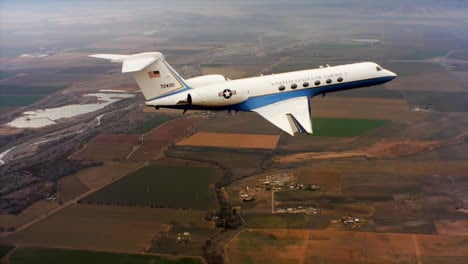 Aerials-Of-The-Us-Air-Force-Air-Mobility-Command-C37-Executive-Us-Government-Jet-In-Flight-7