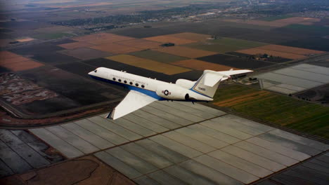 Aerials-Of-The-Us-Air-Force-Air-Mobility-Command-C37-Executive-Us-Government-Jet-In-Flight-9