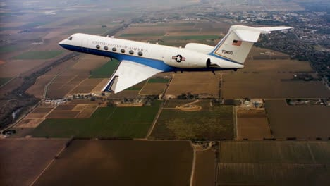Aerials-Of-The-Us-Air-Force-Air-Mobility-Command-C37-Executive-Us-Government-Jet-In-Flight-10