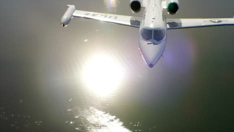 Aerials-Of-The-Us-Air-Force-Air-Mobility-Command-C21-Executive-Us-Government-Jet-In-Flight-2