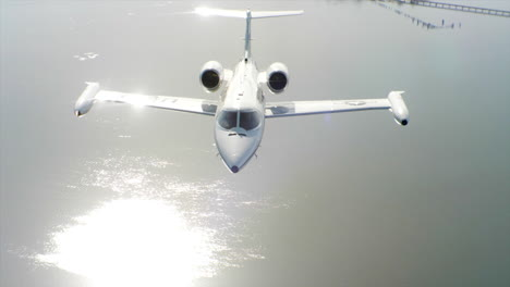 Aerials-Of-The-Us-Air-Force-Air-Mobility-Command-C21-Executive-Us-Government-Jet-In-Flight-3