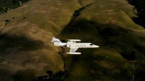 Aerials-Of-The-Us-Air-Force-Air-Mobility-Command-C21-Executive-Us-Government-Jet-In-Flight-5