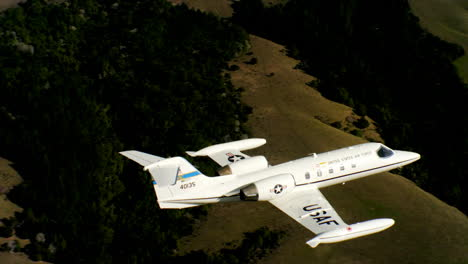 Aerials-Of-The-Us-Air-Force-Air-Mobility-Command-C21-Executive-Us-Government-Jet-In-Flight-6