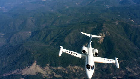 Aerials-Of-The-Us-Air-Force-Air-Mobility-Command-C21-Executive-Us-Government-Jet-In-Flight-11