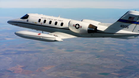 Aerials-Of-The-Us-Air-Force-Air-Mobility-Command-C21-Executive-Us-Government-Jet-In-Flight-14