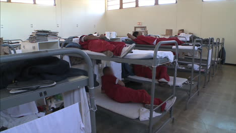 Prisoners-Speak-On-The-Phone-And-Sleep-On-Bunk-Beds-From-A-Local-Jail