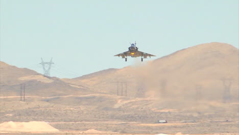 Fighter-Jets-From-The-United-Arab-Emirates-Land-On-A-Runway-At-An-Airbase-1