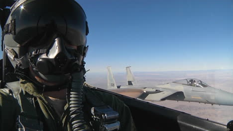 Pov-Shots-From-The-Cockpit-Of-A-Fighter-Plane-Flying-In-Formation