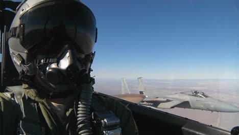 Pov-Shots-From-The-Cockpit-Of-A-Fighter-Plane-Flying-In-Formation-1
