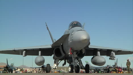Air-Force-F15-Jets-Taxi-On-A-Runway