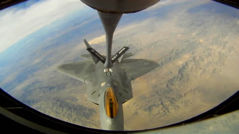 An-Air-Force-F35-Fighter-Jet-Refuels-In-Midair