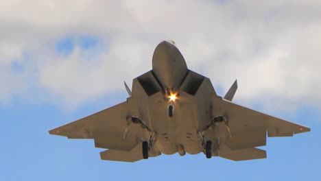 An-Air-Force-F35-Fighter-Jet-In-Flight-And-Landing