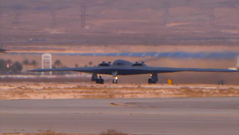 The-Air-Forcer-B2-Stealth-Bomber-Takes-Off-From-A-Military-Base