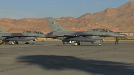 Pakistani-Air-Force-Fighter-Jets-Taxi-At-A-Military-Base