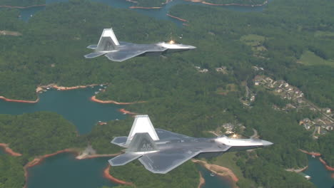 Aerials-Of-The-Us-Air-Force-Air-Mobility-Command-F35-Lightnings-In-Flight