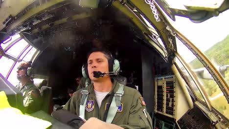 Pov-Shots-Of-Pilots-Flying-A-C130-Cargo-Plane