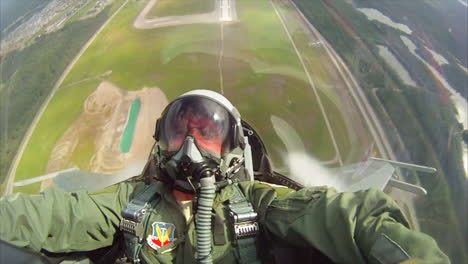 Pov-Shots-From-The-Cockpit-Of-A-Fighter-Plane-Doing-Barrel-Rolls