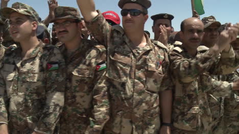 Crowds-Of-Jordanian-Air-Force-Military-Personnel-Cheer-For-The-Camera