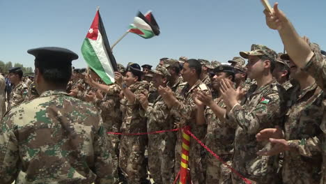 Crowds-Of-Jordanian-Air-Force-Military-Personnel-Cheer-For-The-Camera-1