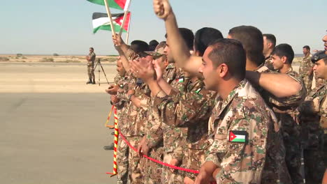 Crowds-Of-Jordanian-Air-Force-Military-Personnel-Cheer-For-The-Camera-2