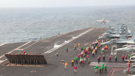 Various-Jet-Aircraft-Take-Off-From-The-Deck-Of-An-Aircraft-Carrier-5