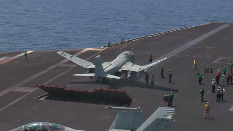 Various-Jet-Aircraft-Take-Off-From-The-Deck-Of-An-Aircraft-Carrier-7