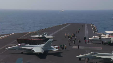 Various-Jet-Aircraft-Take-Off-From-The-Deck-Of-An-Aircraft-Carrier-8