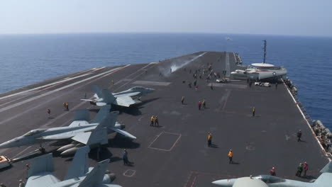 Various-Jet-Aircraft-Take-Off-From-The-Deck-Of-An-Aircraft-Carrier-9