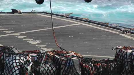 Helicopters-Move-Goods-Between-Aircraft-Carriers-During-A-Replenishment-Exercise-At-Sea-1