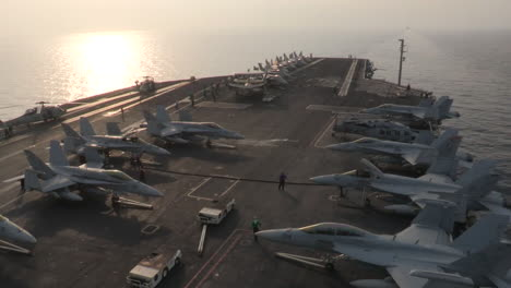 Morning-On-The-Deck-Of-An-Aircraft-Carrier-At-Sea