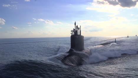 Excellent-Aerials-Over-A-Submarine-At-Sea