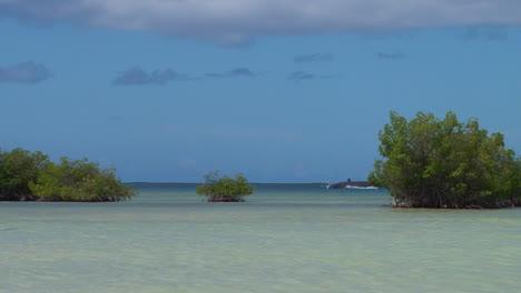 Un-Submarino-Pasa-Por-Playas-Tropicales-En-Hawaii-