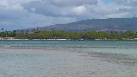 A-Submarine-Passes-Tropical-Beaches-In-Hawaii-1