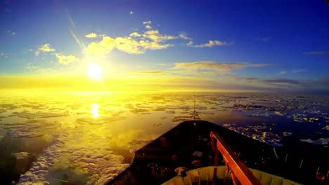 Time-Lapse-Shot-From-Bow-Of-Icebreaker-Vessel-Through-The-Arctic