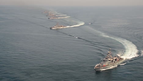 Aerial-Of-Us-Navy-Frigates-And-Destroyers-Sail-In-A-Fleet-1